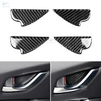 4*Real Carbon Inner Door Handle Bowl Cover For Mazda 3 6 M3 M6 CX-5 2017 2018