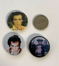 3 Vintage Adam Ant Pins from 1980's - Kings of the Wild Frontier & Strip