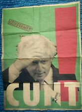 Billy Childish- Boris Johnson Confined Cu#t distressed poster