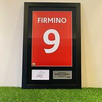 Authentic hand signed Framed Roberto Firmino Reds in Liverpool Home shirt Print