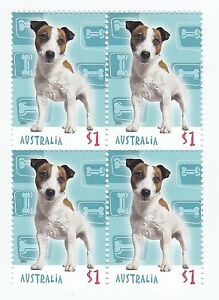 2004 AUSTRALIA STAMP BLOCK 'CATS AND DOGS' - 4 x $1.00 MNH STAMPS