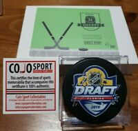 Hit Parade 2015 Draft Carolina Hurricanes Jeremy Bracco Autographed Puck w/ COA