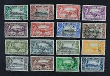 Ckstamps: Gb Sierra Leone Stamps Collection Scott#173-185 Used
