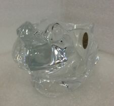 GENUINE Lead Crystal Frog   Collections Cristal d' Arques / made in France