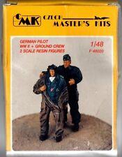 CMK CZECH MASTER'S KITS F-48020 - GERMAN PILOT WWII + GROUND CREW - 1/48 RESIN