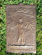 circa1900 ART NOUVEAU LADY & ROSES  BRONZE PLAQUE BY SIR HAMO THORNYCROFT. R.A.