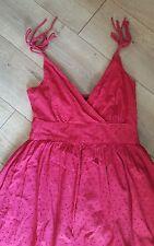 Mercer & Madison GORGEOUS Red Cotton Dress w/ Tie Straps Sz 4