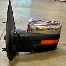 2009-14 FORD F150 SIGNAL MIRROR POWER FOLD CHROME LH LEFT 9L34-17683-EJSMAS USED