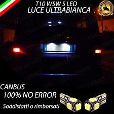 COPPIA LUCI TARGA LED VW TRASPORTER T4 T10 W5W BIANCO CANBUS 100% NO ERROR