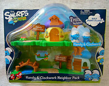 The Smurfs Micro Village Hardy & Clockwork Neighbor Pack New Sealed 2013