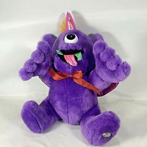 Vintage DanDee Purple People Eater Sing & Shake Plush Toy Tested Working