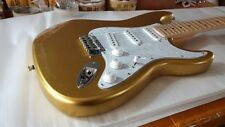 Custom Shop Metallic Gold Scalloped Neck Electric Guitar (FREE SHIPPING)