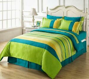 """Multicolor GeometricPrinted Cotton 90x96"""" Double Bedsheet & 17x27"""" 2Pillow Cover"""