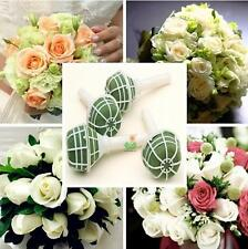 HOAU 1X Foam Bouquet Holder Handle Bridal Floral Wedding Flower DIY Decoration