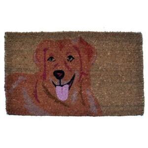 Imports Decor 343BCM Golden Retriever Coir Doormat