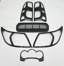 6pcs. matt noir mat cover trim set pour toyota hilux vigo champ MK7 2012-2014