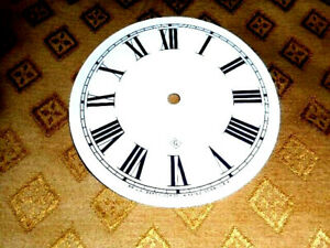 For American Clocks-Gilbert PAPER (CARD) Clock Dial -126mm MINUTE TRACK-GLOSS