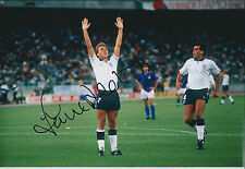 David PLATT Signed Autograph 12x8 Photo AFTAL COA ENGLAND World Cup Italy 1990