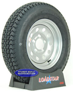 "Boat Trailer Tire LoadStar ST 175/80D13 Silver Mod Wheel 5 Bolt 13"" Rim LRC Lug"