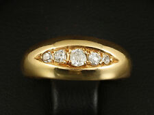Antiker Diamant Bandring Rosegold mit kleiner Ringweite 750/-