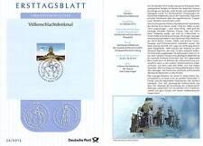 BRD 2013: Völkerschlachtdenkmal Ersttagsblatt Nr 3033 Bonner Sonderstempel! 1608