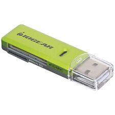 Iogear GFR204SD Flash Card MicroSD/SD/MMC Reader/Writer USB 2.0