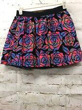 aeropostale s/p skirt neon roses striped super cute mini