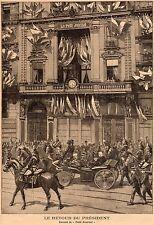 PARIS RETOUR DE FELIX FAURE PETIT JOURNAL IMAGE 1897 PRINT