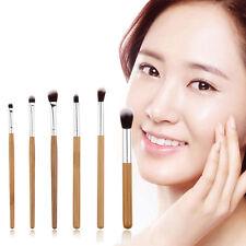 6x Eye Essential Eyeshadow Eyeliner Crease Blending Makeup Brush Set Brushes New
