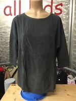 Bonita Pullover Grau Satin & Strick Gr L 42 Baumwolle Feinstrick Wie Neu