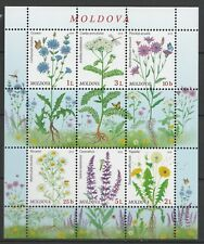 Moldova 2016 Flowers 6 MNH stamps Sheet