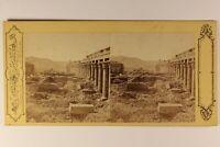 Egitto Foto Pascal Sebah Costantinopoli Stereo Vintage Albumina c1865