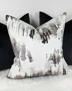 "18""x18"" Villa Nova NORRLAND CARBON Fabric Cushion Cover"