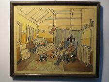Karl August Ohrt ( Hamburg ) - um 1929 - Im Atelier / Aquarell Zeichnung ?
