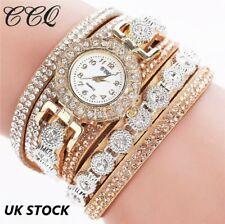Womens Fashion Dress Watches Weave Wrap Quartz Wrist Watch Bracelet For Ladies