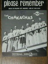 PARTITION MUSICALE BELGE LES CHAKACHAS PLEASE REMEMBER