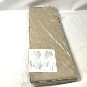 """Entryway Bench Cream Foyer Mud Room Bed Shoe Hall Seat Pad REPLACEMENT 38x14"""""""