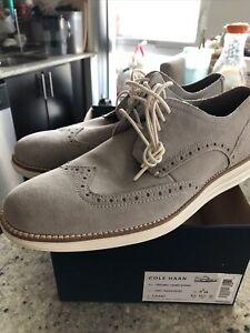 Cole Haan C31447 Oxford Wingtip gray suede size 9.5 no box lid. $200 CDN Retail