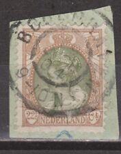 NVPH Nederland Netherlands nr 70 TOP CANCEL BODEGRAVEN Wilhelmina 1899 bontkraag