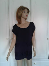 BHS PURPLE TOP SIZE 14 LACE BANDING