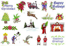 OLD FASHIONED CHRISTMAS I Embroidery Card - Bern. Deco, Baby Lock, Brother .pes