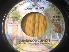 "LARRY GROCE - JUNKFOOD JUNKIE      7"" VINYL"