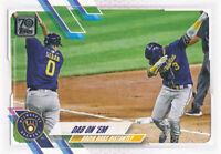 Orlando Arcia 2021 Topps Series 1 #7 Milwaukee Brewers baseball Card