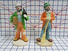 Vintage Flambro clowns Emmett Kelly Jr. Collection porcelain figurine statue