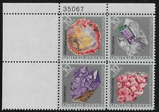US Scott #1538-41, Plate Block #35067 1974 Minerals 10c FVF MNH Upper Left