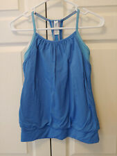 Girl Ivivva Blue Double Dutch Tank Top Athletic Wear Size 14