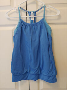 Girl Ivivva Blue Double Dutch Tank Top Athletic Wear Size 14