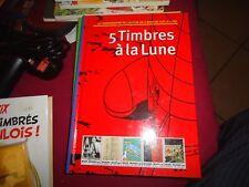 TINTIN - HERGE - CBBD - 5 TIMBRES A LA LUNE - 4000 EX - EO TTBE