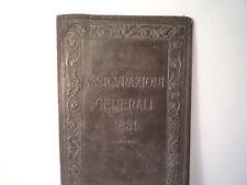 BEAUTIFUL ANTIQUE  LEATHER COVER - ASSICVRAZIONI GENERALI 1831