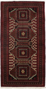 Geometric Tribal Rug Farmhouse 3'5X6'8 Vintage Handmade Oriental Foyer Carpet